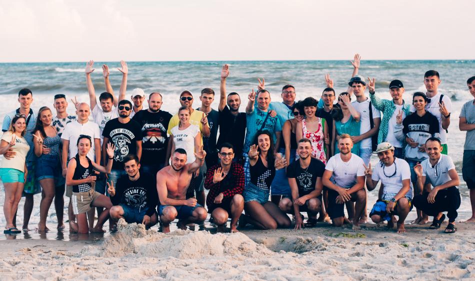 Літній корпоратив на узбережжі Чорного моря